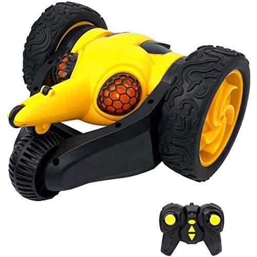 VanFty Coche teledirigido de 2,4 GHz RC Stunt Car coche teledirigido for los niños, Diversión creativa abeja Stunt Deriva del coche de RC, 360 ° de rotación, con luz LED, deformación, regalos del jugu