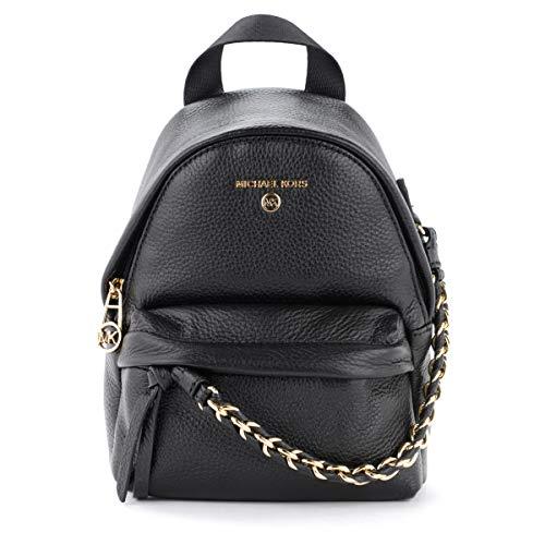Michael Kors Women's Slater XS CNV MSGR Backpack, Black, Medium