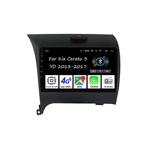 Car Multimedia Autoradio Doppeldin Radio Mit Navigation Für Kia K5 Optima 2011-2015 Auto Zubehör Einfügen Und Verwenden Navigationsgeräte GPS Car Video Player Steering Wheel Control,8 Cores 4G+64G