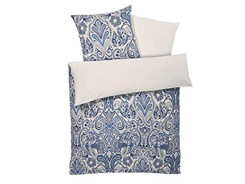 Meradiso Wendebettwäsche aus Satin Baumwolle Maße Kissen 80 x 80 cm Bettdecke 135 x 200 cm