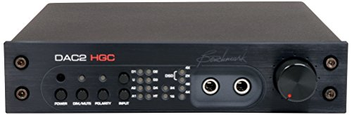 Benchmark DAC2 HGC - Black - Reference Stereo Preamplifier, PCM and DSD D/A Converter, Headphone Amp, Asynchronous USB