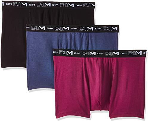 Dim Coton Stretch Boxer X3, Multicolor (Cherry Berry/Azul