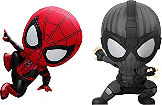 Hot Toys Spider-Man&Spider-Man Stealth Suit Ver Cosbaby (S) Bobble-Head