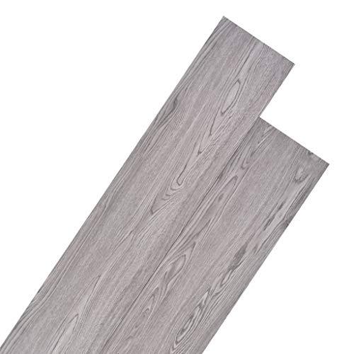 vidaXL PVC Laminat Dielen 5,26m² 2mm Dunkelgrau Vinylboden Bodenbelag Fußboden