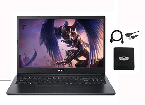"Newest Acer Aspire 1 15.6"" FHD laptop business and student, Intel Celeron N4020(Up to 2.8 GHz), 4GB RAM, 64GB eMMC, Up to 10-Hours Battery Life, Microsoft 365 Personal, Win10 w/Ghost Manta Accessories"