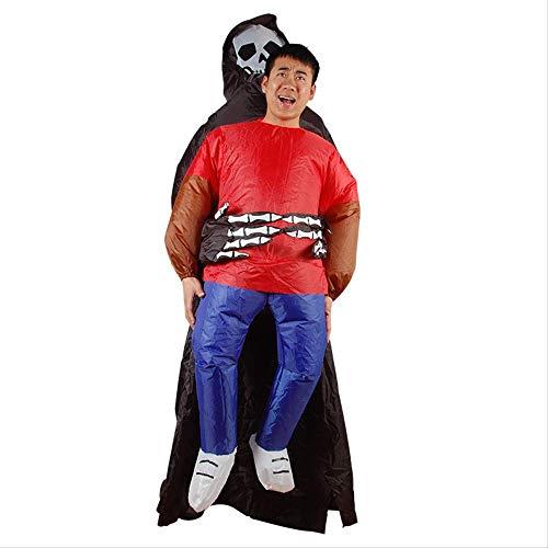 1yess Crneo de Halloween de Miedo inflables Santo Titular de Ropa Inflable Santo Titular - Adultos
