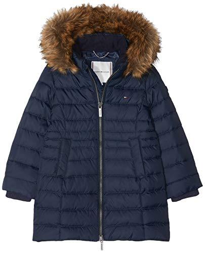 Tommy Hilfiger Mädchen Essential Basic DOWN Coat Jacke, Blau (Black Iris 002), 140 (Herstellergröße: 10)