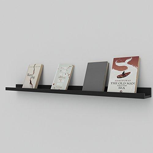 Athomestore Wandregal Bücherregal Deko Regal Steckboard Bilderrahmenleisten schweberegal, 120 * 9cm, Schwebendes Hängeregal Fotohalter Büroregal Kinderregal Wandboard