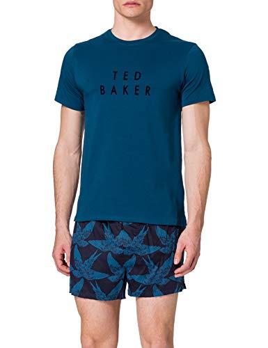 TED BAKER Underwear Kurzer Pyjama Set di Pigiama, Assortimento 2, S Uomo