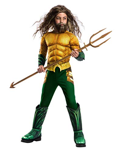 Horror-Shop Costume da Bambino Aquaman Muscle Child Costume Deluxe L