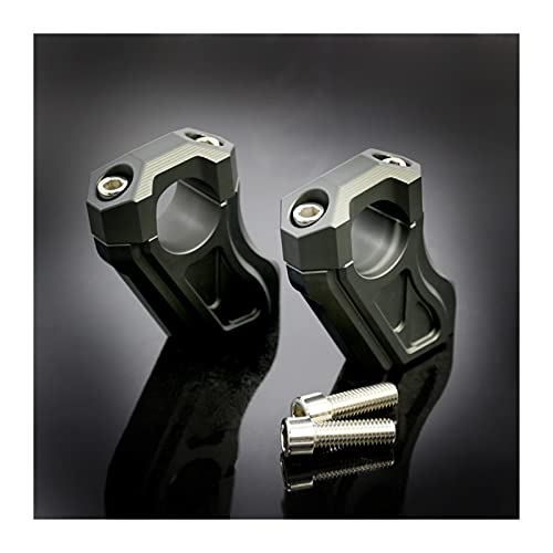 エンジン Clip Manubrio del Manubrio del Manubrio del Motociclo Adatto per Gli Accessori Dell'adattatore Adatti B-M-W R9T 2014-2017 Ricambi per Motocicli (Colore : Titanium)