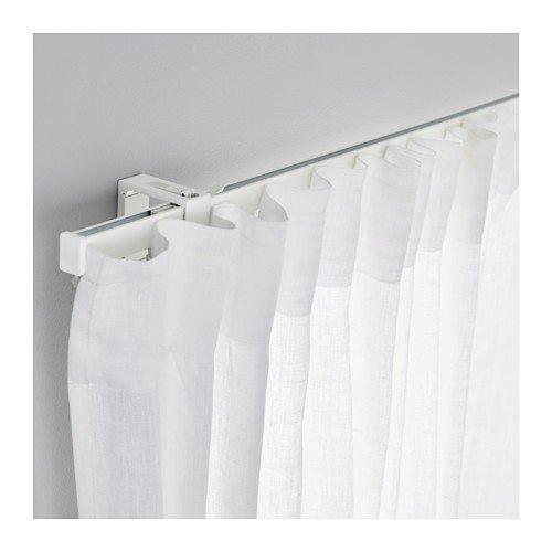 Ikea VIDGA Gardinenschiene in weiß; 1-läufig; (140cm)