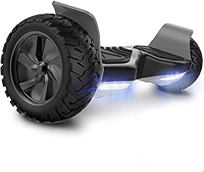 GeekMe Hoverboard Segway 8.5 inch wheels all terrain Electric Self Balancing Scooter With Powerful Motor LED Lights/Bluetooth Gift for Kids and Adults