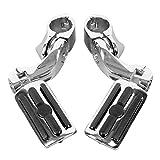 XFMT 1.25' 32 mm Short Angled Adjustable Highway Foot Pegs Peg Mount For Harley Davidson