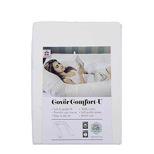 Fossflakes Comfort-U - Almohada para dormir de lado, color crema