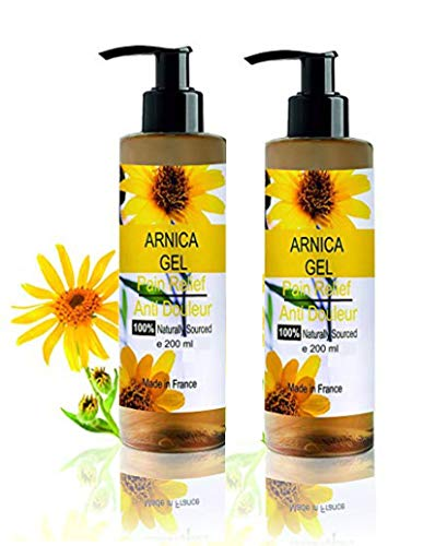 Gel d'Arnica 90% Sport Récupération Gel de Massage Pack Economique 2 x 200 ml Gel Calmant