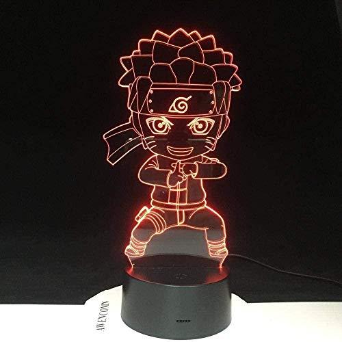 3D Illusionslampe LED Nachtlicht Kinder Farbwechsel für Kinder Schlafzimmer Dekoration Baby Kung Fu Geschenk