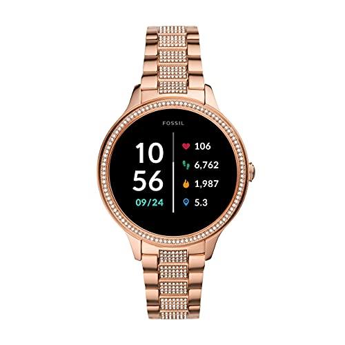 Fossil Smartwatch Pantalla táctil para Mujer de Connected con Correa en Acero Inoxidable FTW6035, Oro Rosa