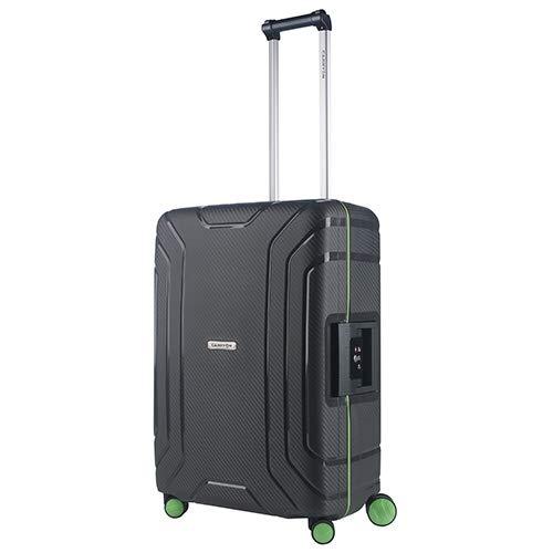 CarryOn Steward TSA Reiskoffer - Trolley 65cm met kliksloten - Dubbele wielen en luxe interieur - Donkergrijs