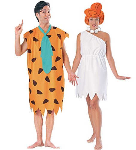 Fred and Wilma Flintstone Costume Set