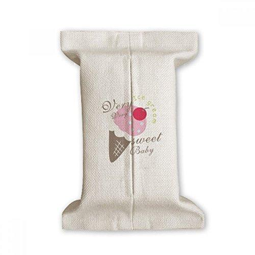 DIYthinker Cerise Sweet Baby crème glacée sucrée Papier de Soie Couverture Coton Lin Porte Conteneur Cadeau 17x27cm Multicolor