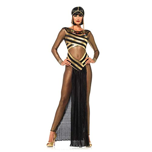 KIDsportxie Cleopatra Role Play - Disfraz para vestido de mujer árabe femenino Halloween X'Mas Fancy Dress Masquerade Prom para vestido de cumpleaños Dress-up,Brown Black-XL