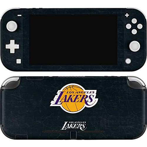 Skinit Decal Gaming Skin Compatible with Nintendo Switch Lite - Officially Licensed NBA Los Angeles Lakers Black Primary Logo Design