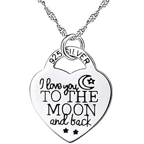 NiceWave Silver Color Elegant Heart Pendant Necklace for Women Girls Jewelry Accessories Gift Creative Design