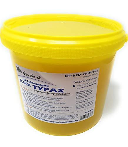 DWT-Germany 101294 5kg Reifenmontagepaste Montagewax Reifenmontierpaste Montagepaste Gelb