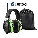 PROHEAR 033 Bluetooth Casque Anti Bruit avec Radio Coussinets d'oreille Remplaçable,Protection Auditive FM/AM avec Sac Transport, NRR 30dB pour Tonte/Construction/Menuiserie/Loisirs