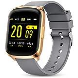 Gokoo Smartwatch Orologio Fitness Donna Uomo Impermeabile IP68 Orologio Cardiofrequenzimetro e Contapassi e Calorie da Polso Sportivo Fitness Tracker per Android iOS (Grigio)