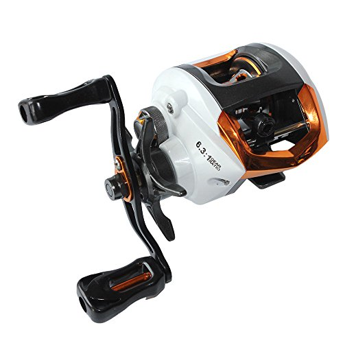Lixada Baitcasting Fishing Reel 12+1 Ball Bearings 6.3:1 Gear Ratio High Speed Baitcast Baitcaster Reel with Magnetic Brake System (Left/Right Hand)