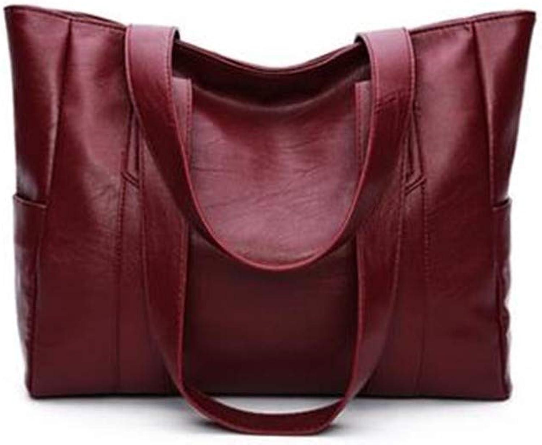 Henkeltasche,Damen Handtasche,SchultertascheCrossbody vielseitig Mode lässig große Kapazität Mutter Tasche Tasche Tasche Umhängetasche große Kapazität leicht und langlebig, A B07KN549Y2  Bevorzugtes Material b1d35e