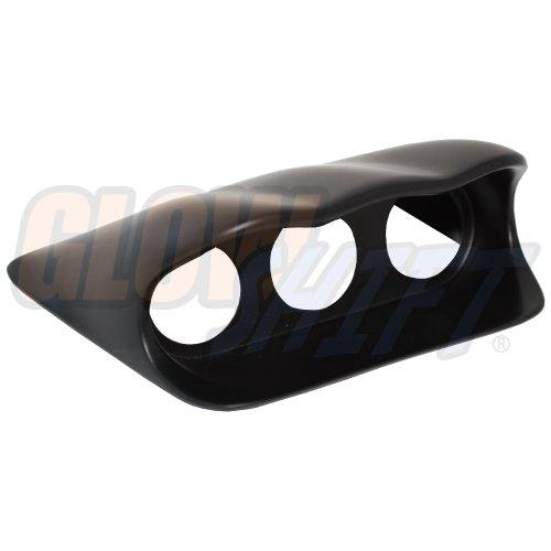 "GlowShift Black Fiberglass Triple Dashboard Gauge Pod for 2002-2007 Subaru Impreza WRX STI - Mounts (3) 2-1/16"" (52mm) Gauges to Vehicle's Dash"