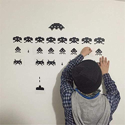 Pegatinas de vinilo para jugadores 3D Space Invaders Video Game Play Room Wall Deca 56 cm X 28 cm