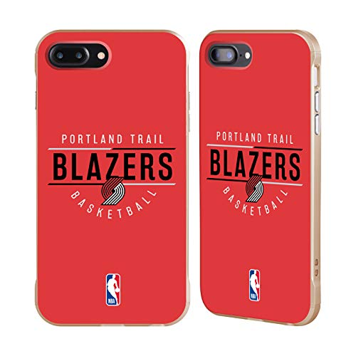 Officiële NBA Logotype 2018/19 Portland Trail Blazers Gouden Fender Case Compatibel voor Apple iPhone 7 Plus/iPhone 8 Plus