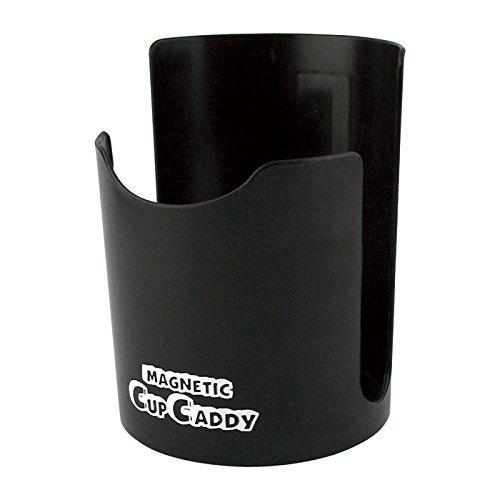 Magnet Becherhalter Ø 90 x 120 mm - Kunststoff: SCHWARZ - Magnetischer Halter für Becher Dosen Flaschen Kaffeetasse Spraydosen - Gummierter Magnet - auch auf lackierten Oberflächen verwendbar
