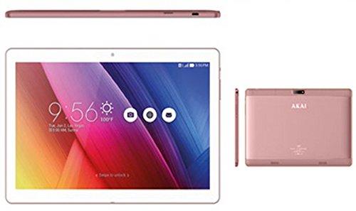 Tablet AKAI MD9653 9.6 Pollici Dualsim 3G WIFI Bluetooth Memoria RAM da 1GB Memoria 8GB Espandibile fijo a 32GB Sistema Operativo Google Android 6.0 Colore Rose Gold Dimensioni 24x16x0,8 cm
