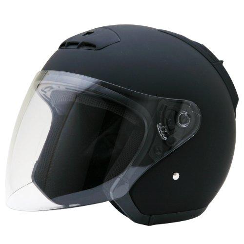 ネオライダース (NEO-RIDERS) SY-5 オープンフェイス シールド付 ジェット ヘルメット マットブラック XLサイズ 61-62cm未満 SG/PSC SY-5