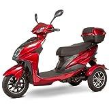 eWheels EW-10 Sport 3-Wheel Mobility Scooter- Red