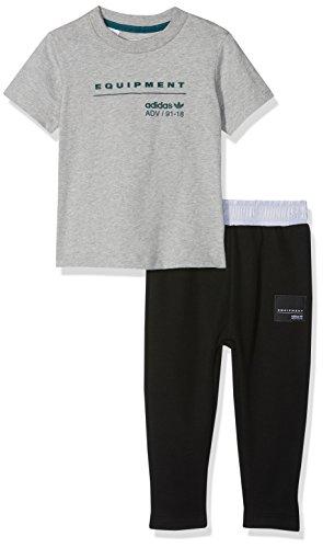 Adidas I EQT Tset trainingspak, uniseks, kinderen, grijs (brons/vermissen), 98 (2/3 jaar)