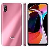 Android 4G Teléfono Móvil Libre KXD D58 Smartphone LibreTeléfono Móvil Dual SIM 2GB+32GB, Pantalla 6.22' Water-Drop Screen Movil Barato 13MP+2MP+5MP, 4000mAh Batería, Rosa