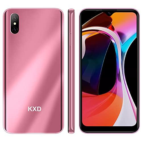 Smartphone Offerta del Giorno, KXD D58 6.22   Waterdrop Schermo 4000mAh Batteria Cellulari Offerte, 2GB 32G 128GB Espandibili Cellulare, 13MP+5MP, Dual SIM Economici Android Telefoni Mobile, Rosa