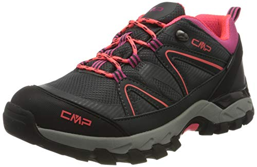 CMP Kids SHEDIR Low Hiking Shoes WP Walking Shoe, Antracite-RED Fluo, 39 EU
