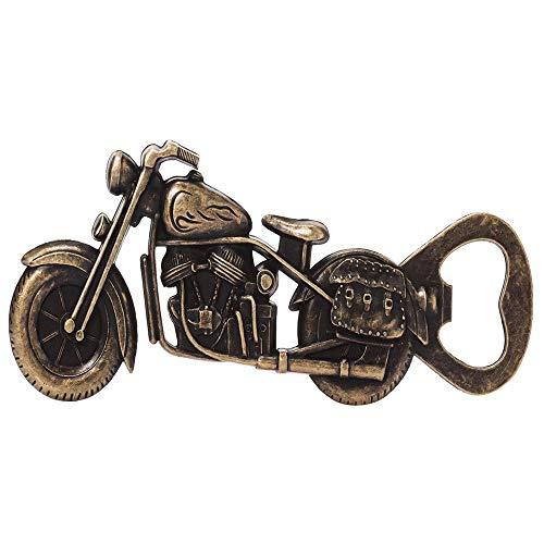 Ritte Motorrad Flaschenöffner, Motorrad Bier Flaschenöffner, Vintage Flaschenöffner, Metall Motorrad Flaschenöffner für Bar Party, Trinkspiel, Geschenke für Männer (Gelb)