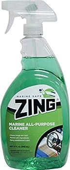 ZING Marine-Safe All-Purpose Boat Cleaner – 32oz Spray Bottle – Cleans Windows Vinyl Seats Fiberglass – Safe Neutral Cleaner – Sandalwood Scent