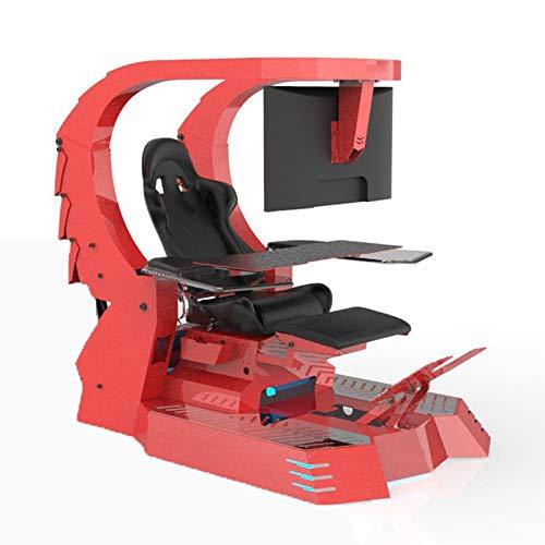 YLOVOW Silla para Juegos De Ordenador E-Sports Silla Adecuada para Todas Las Principales Salas De Juego, Oficinas Y Familias,Rojo