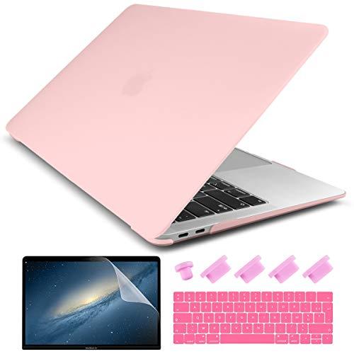 Batianda - Carcasa rígida para MacBook Pro 16 2020 2019, funda rígida y cubierta de teclado y protector de pantalla para nuevo MacBook Pro de 16 pulgadas Touch Bar (modelo A2141), transparente mate