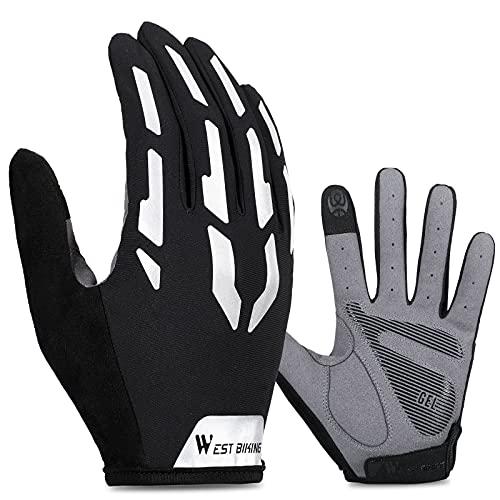 ICOCOPRO Fahrradhandschuhe, Fahrrad Handschuhe Mountainbike Handschuhe Stoßdämpfend, rutschfest Atmungsaktiv Halbfinger Fahrradhandschuhe Kurzarmhandschuhe Sporthandschuhe für Herren Damen