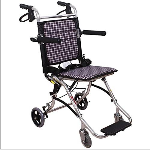 Aleación de Aluminio Plegable Portátil Portátil Portátil Portátil, Ultra Light Discapacitado Carrito Anciano Silla